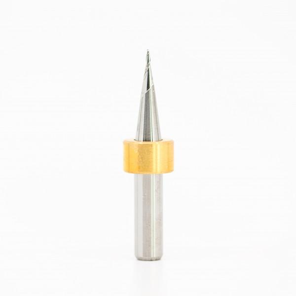 Fräser 0,6x43 für Imes Icore® (6er Schaft), unbeschichtet, tapered (kegelig)